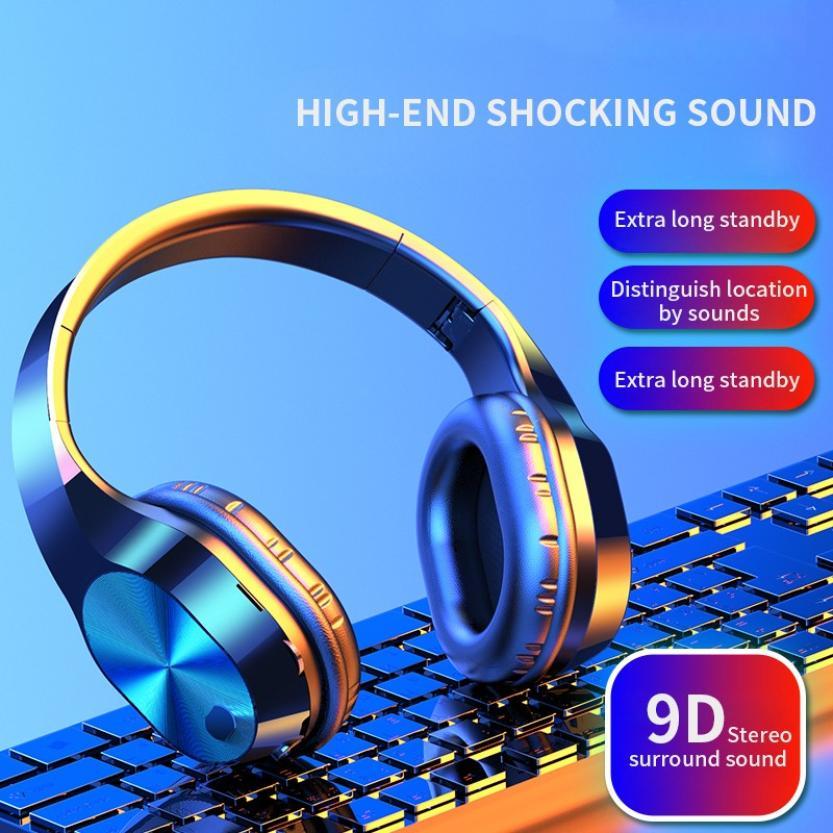 HBQ T5 Wireless Bluetooth Headphones V5.0 3D Stereo Wireless Headphones with Mic Foldable Headset Wireless Earphone|Bluetooth Earphones & Headphones| - AliExpress
