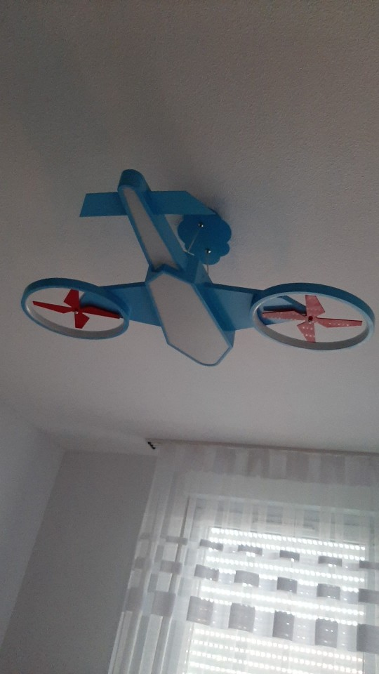 Airplane Modern led Lamp Kids Bedroom Decoration photo review