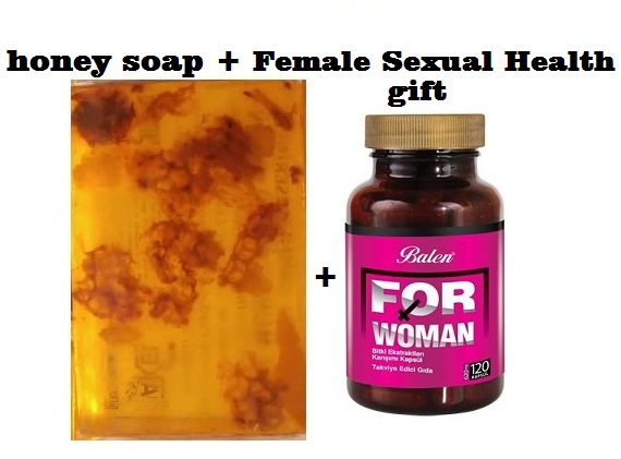 (gift Items)HANDMADE NATURAL HONEY SOAP 100gr+Gift Food Supplement Health 120 Capsules Female Sexual Health Regulate Oestrogen
