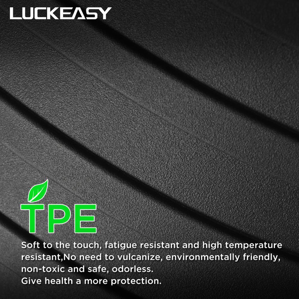 Luckeasy carro todo o tempo piso para tesla modelo 3 2017 2019 tpe novo design estilo all weather tapetes - 3