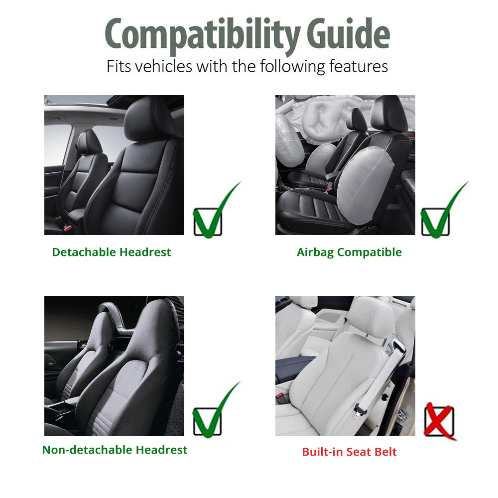 Image 5 - Seat Cover Supports High Back Bucket AUTOYOUTH Car Seat Cover Universal Fits Most Interior Accessories Seat Cover-in Automobiles Seat Covers from Automobiles & Motorcycles