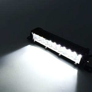 Image 5 - 1個ecahayaku 7インチ超スリムデュアル行ledライトバー60ワット6000 18k 12用ジープ/ハマー車suv uteピックアップトラック4 × 4オフロード