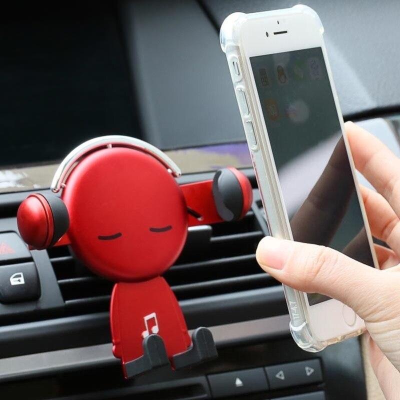 На выходе воздуха автомобиля мобильный телефон стойки мультфильм мобильный телефон навигационное оборудование стеллаж для выставки товар...