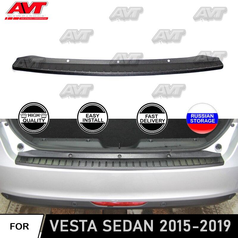 Capa protetora para Lada Vesta 2015 ~ 2019 Sedan placa no amortecedor traseiro guarnição de proteção acessórios car styling decoração