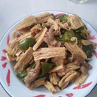 超级好吃的过油肉炒腐竹的做法图解5