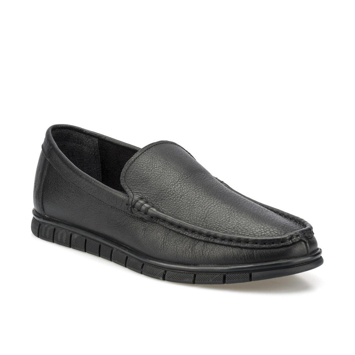 FLO 102068,m zapatos clásicos negros para hombre Polaris 5 puntos
