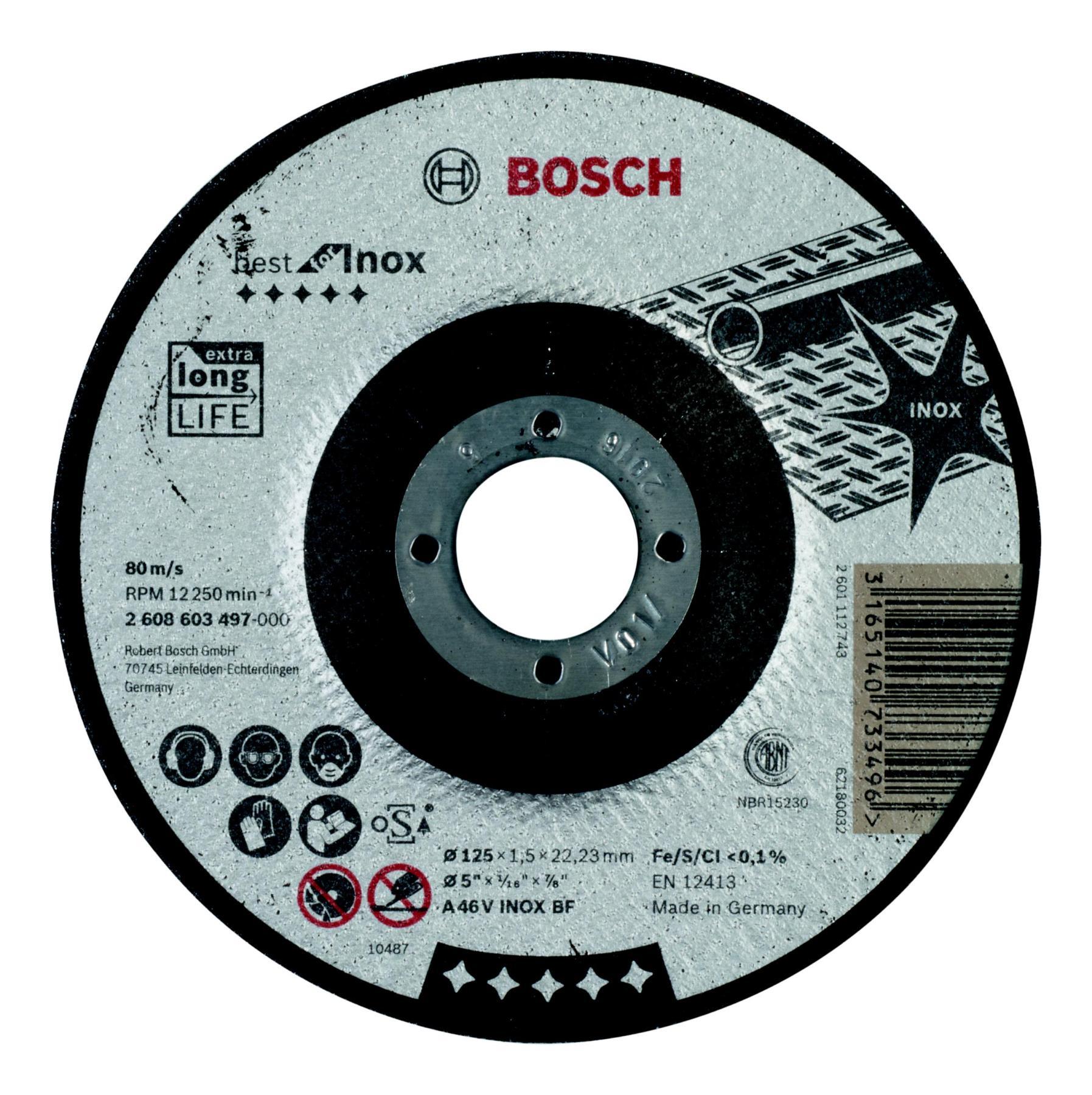 Circle Cutting BOSCH 125х1х22 Best For Inox (2.608.603.493)
