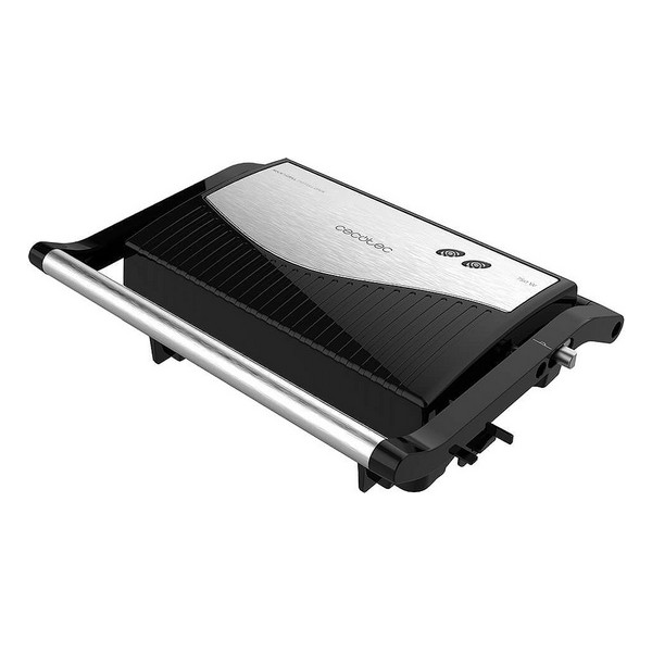 Electric Barbecue Cecotec Rock'nGrill 750 Full Open 750W Black Grey title=