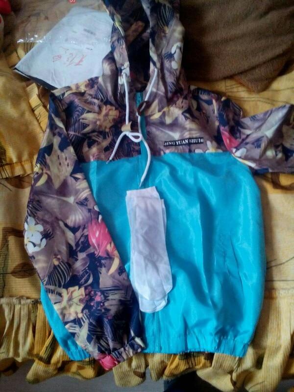 Women's Hooded Jackets 2020 Spring Causal Flowers Windbreaker Women Basic Jackets Coats Zipper Lightweight Jackets Bomber Famale