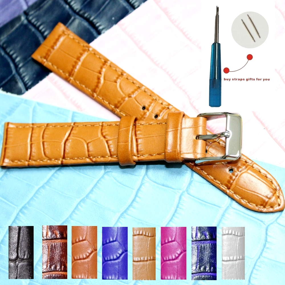Geunine Leather Watch Band WB1036-18
