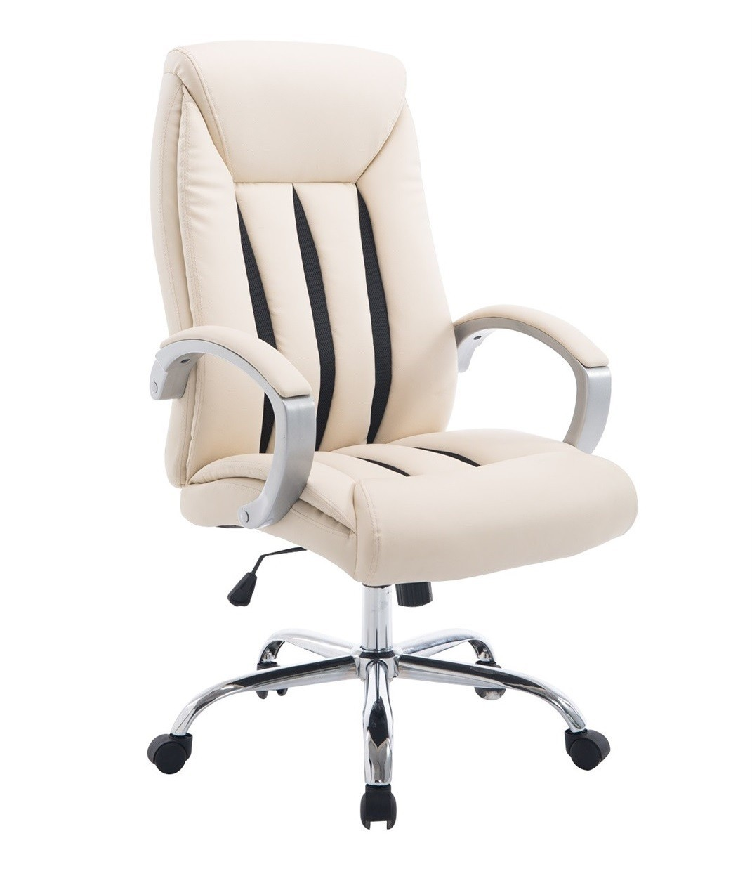 Office Armchair SAPPHIRE, High, Gas, Tilt, Similpiel Beige, Mesh Brown