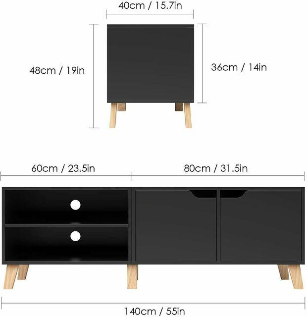 55 inch Modern TV Stand Console Center w/ Storage Cabinet  5