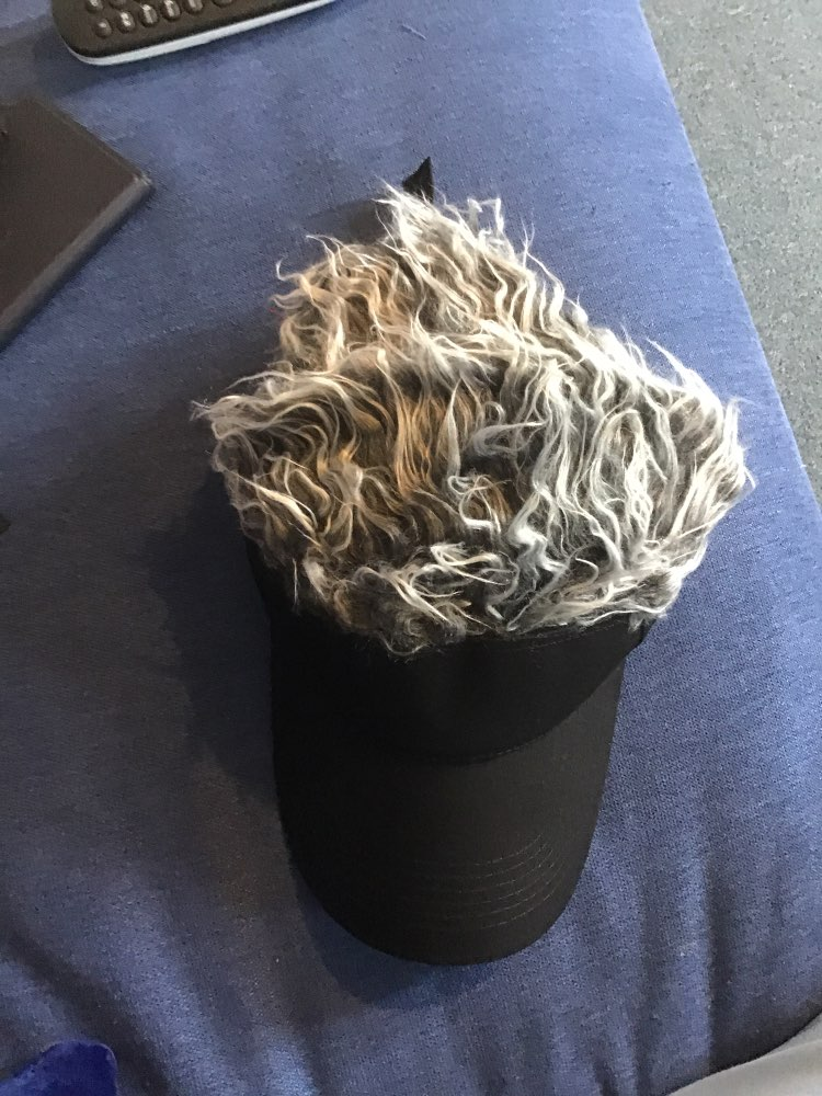 Golf Hats With Fake Wig photo review