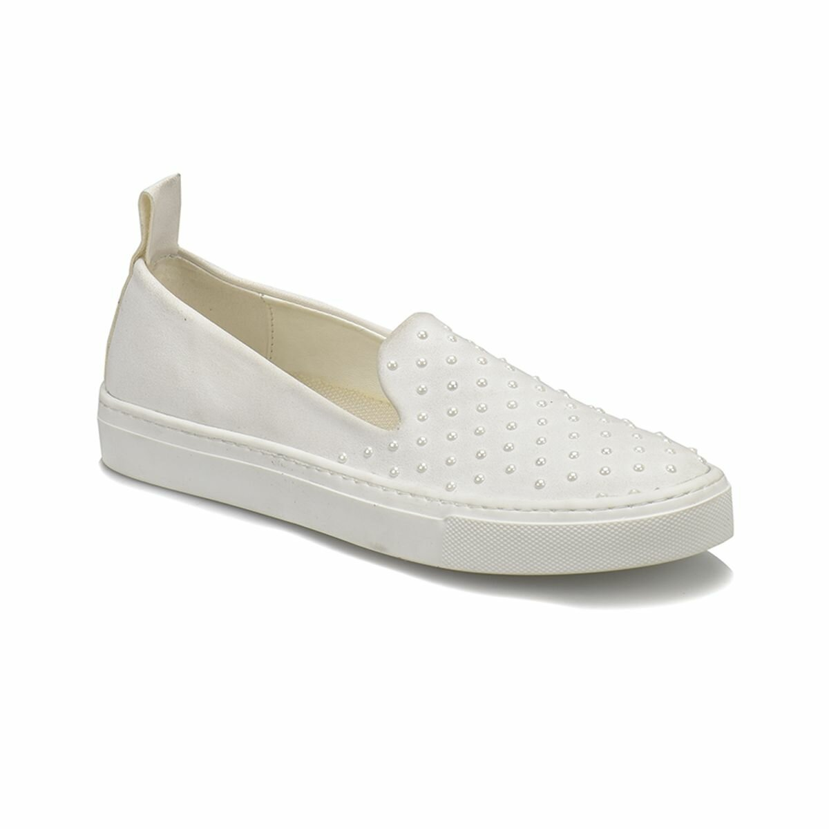 FLO CS18088 White Women Slip On Shoes Art Bella