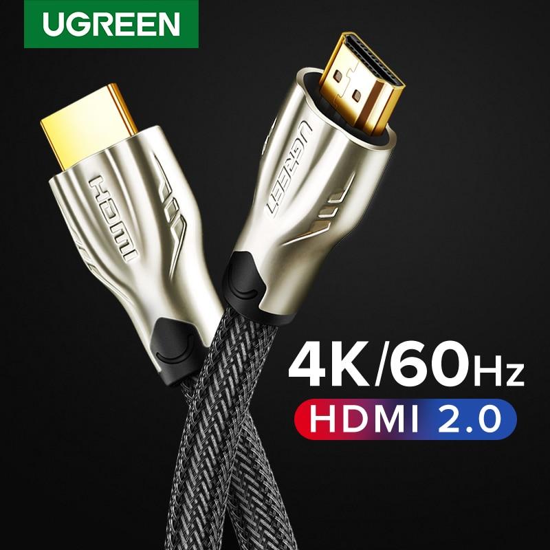 Ugreen HDMI кабель 4K/60Hz HDMI сплиттер кабель для Xiaomi Mi Box HDMI 2,0 аудио кабель переключатель сплиттер для Tv Box PS4 HDMI кабель
