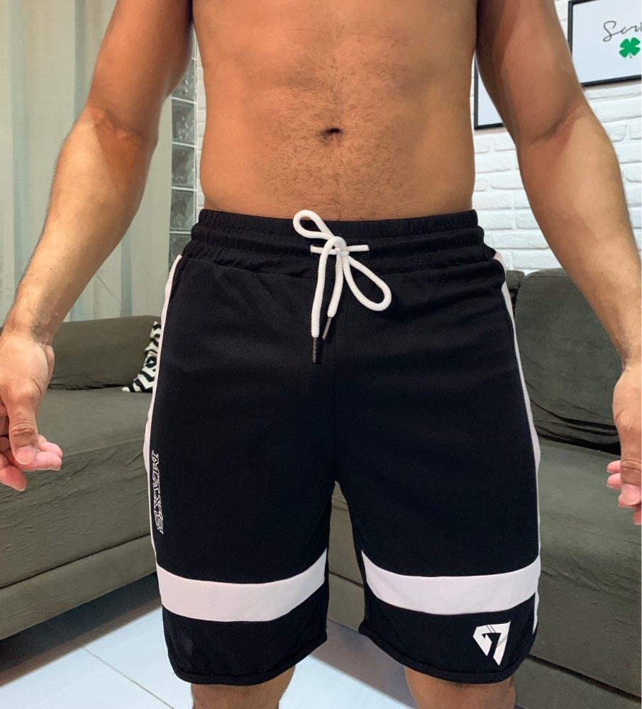 Short sportif ou de bain homme longueur aux genoux GYMOHYEAH noir ou blanc