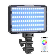 Neewer rgb luz de vídeo com controle de aplicativo, luz da câmera led cri95 + pode ser escurecido para youtube dslr câmera filmadora foto iluminação, rgb176