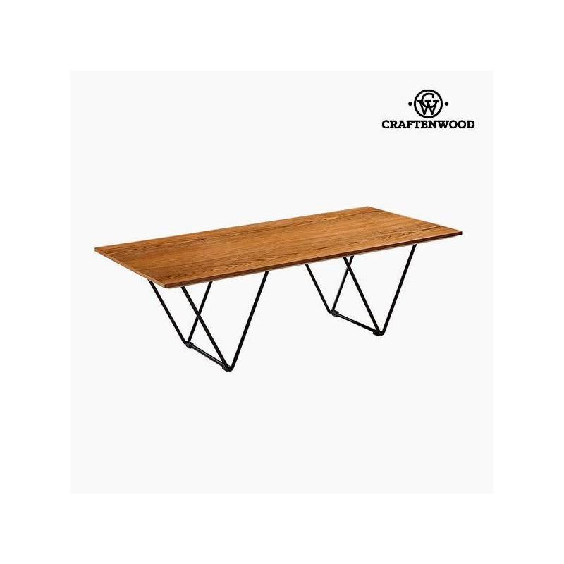 Coffee Table Walnut Mdf (120x60x38 Cm) By Craftenwood