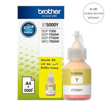 40 Ml. Asli BROTHER Yellow Ink BT5000 Y T300/T310/T500/T510/T800/T810/T910()