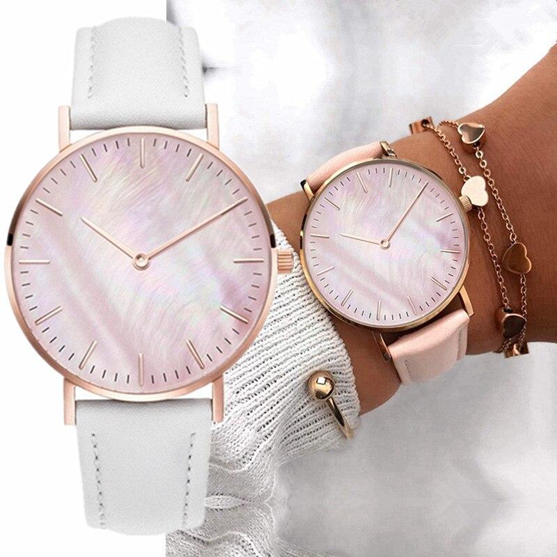 New Fashion Simple Women Watches Casual Ladies Leather Quartz Watch Watch Women Clocks Vrouwen Zegarek Damski Reloj Mujer