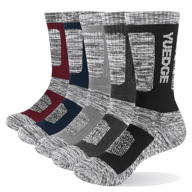 Носки YUEDGE мужские с хлопковой подушкой, повседневные толстые зимние теплые термоноски для мужчин, 5 пар