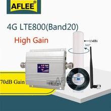 Европа 4g усилитель сигнала band20 lte 800 МГц мобильного телефона