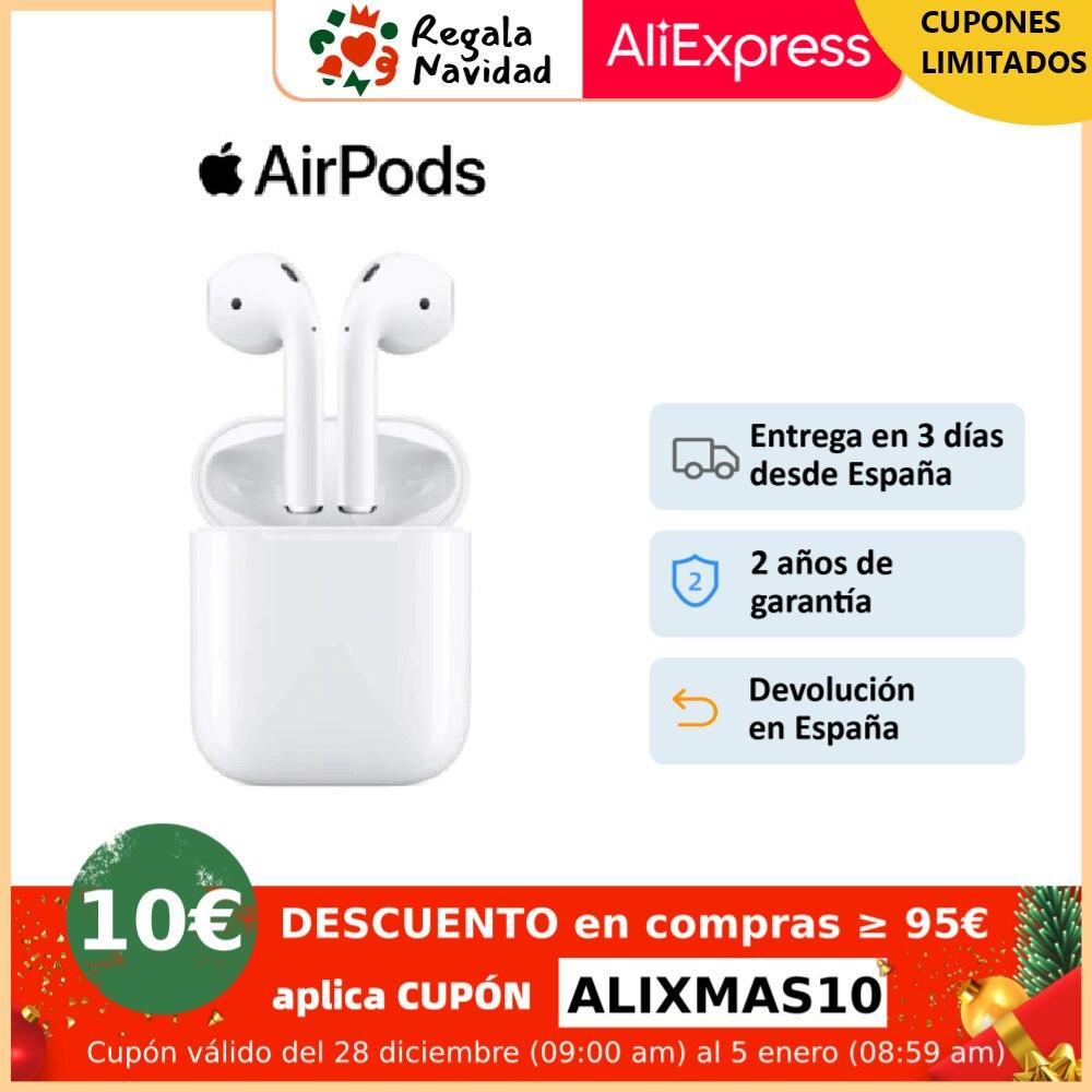 Apple Airpods V2 Modelo 2019 auriculares inalámbricos, ORIGINALES, 2º generación con estuche de carga lighting para iPhone iPad|Auriculares y audífonos| - AliExpress