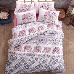 Комплект постельного белья Lady Moda, роскошный комплект постельного белья с слоном, набор постельного белья для близнецов/полных/королевских ...