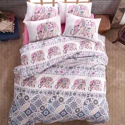 Lady Moda Bedding Set | Elephant Luxury Ranforce Bed Linen Set Twin/Full/Queen/King Size 3/4/5 pcs Duvet Cover Set from Turkey