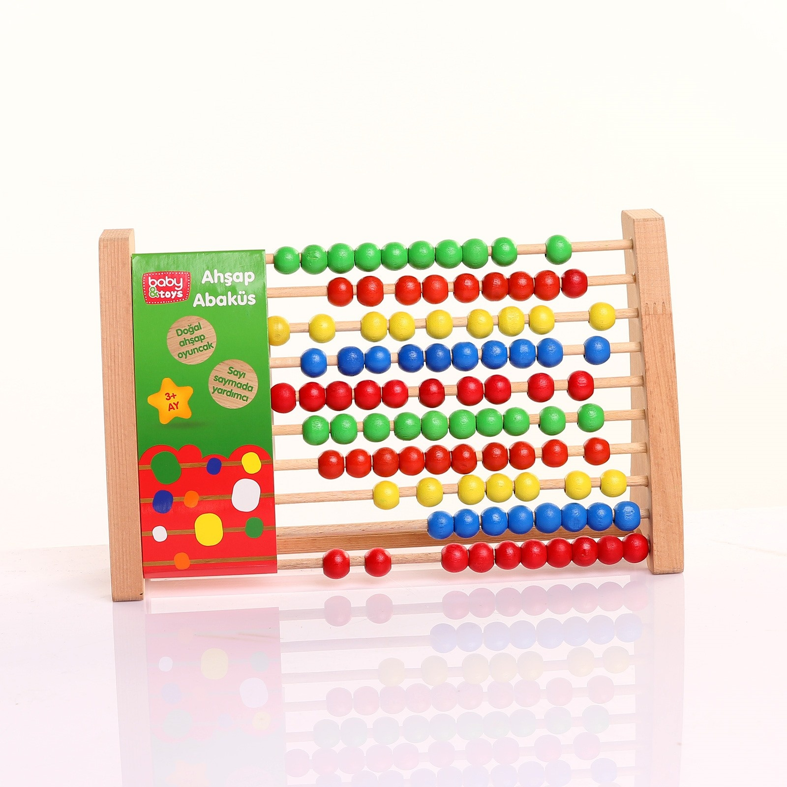 Ebebek Baby&toys Wooden Educational Abacus Counting Toy
