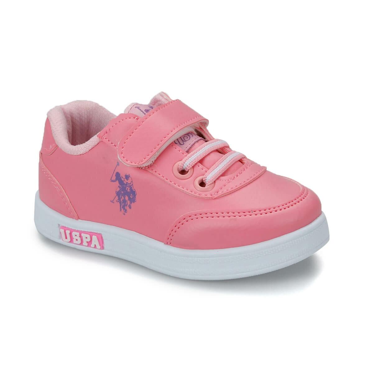 FLO CAMERON Pink Female Child Sneaker Shoes U.S. POLO ASSN.