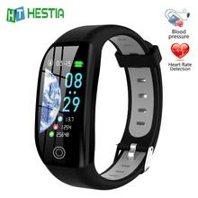 Brazalete inteligente para monitoreo de fitness, pulsera rastreadora de salud cardiovascular, con podómetro, medición de presión arterial y frecuencia cardíaca, GPS