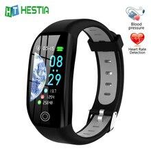 Gps pulseira de fitness com medição de pressão rastreador de fitness saúde cardio pulseira de freqüência cardíaca pedômetro sangue inteligente