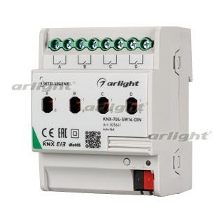 025661 Intelligent Arlight Relay Module Knx-704-sw16-din (bus, 4x16a) Arlight Box 1-piece