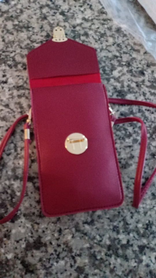 Touchable PU Leather Change Bag - giftpockets photo review