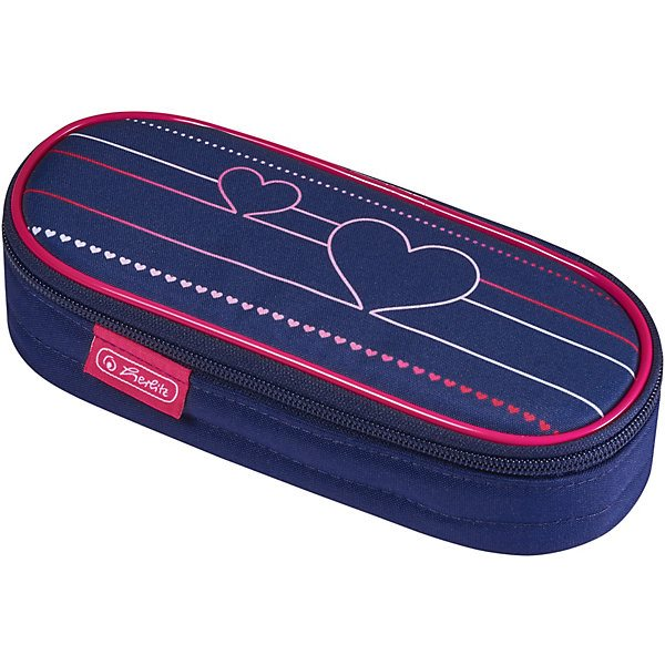 Pencil Case-cosmetic bag Herlitz Case, Heartbeat mini portable cartoon fresh cosmetic bag multifunction women beauty travel cosmetic bag makeup case pouch toiletry