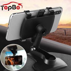 자동차 휴대 전화 홀더 360 학위 스탠드 대시 보드 후면보기 미러 차양 배플 전화 홀더 GPS 마운트