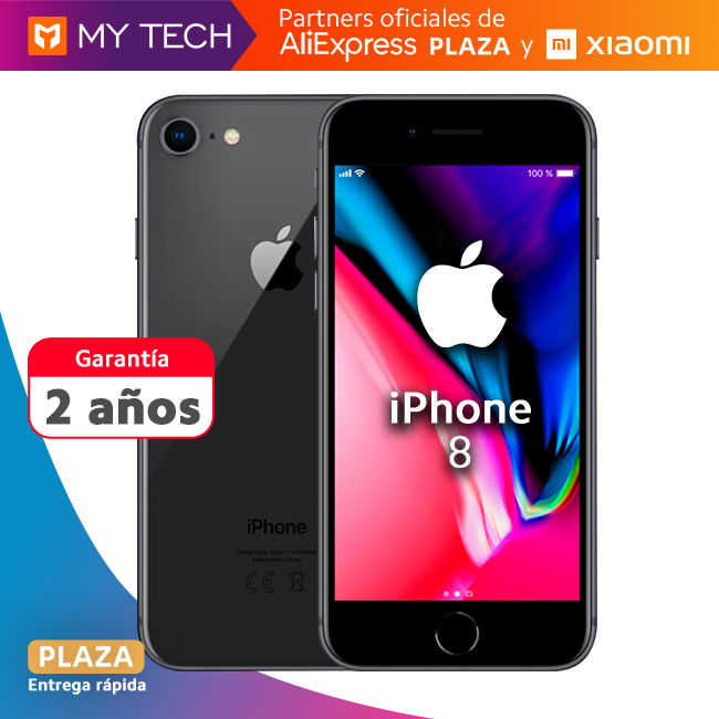 Smartphone Apple Iphone 8, shipping phone phone, ORIGINAL, old 2 warranty, 64GB, free from Spain, Aliexpress Square