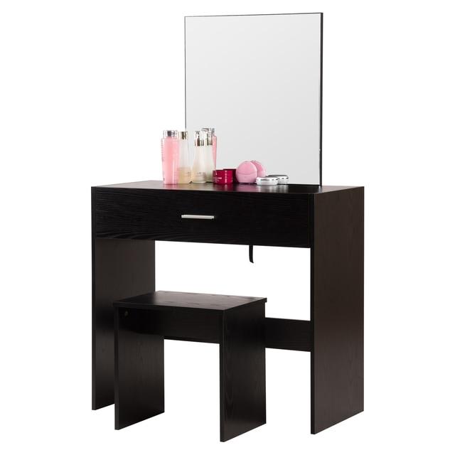 Купить 1 комплект белый туалетный столик с большим макияж зеркало спальня картинки цена