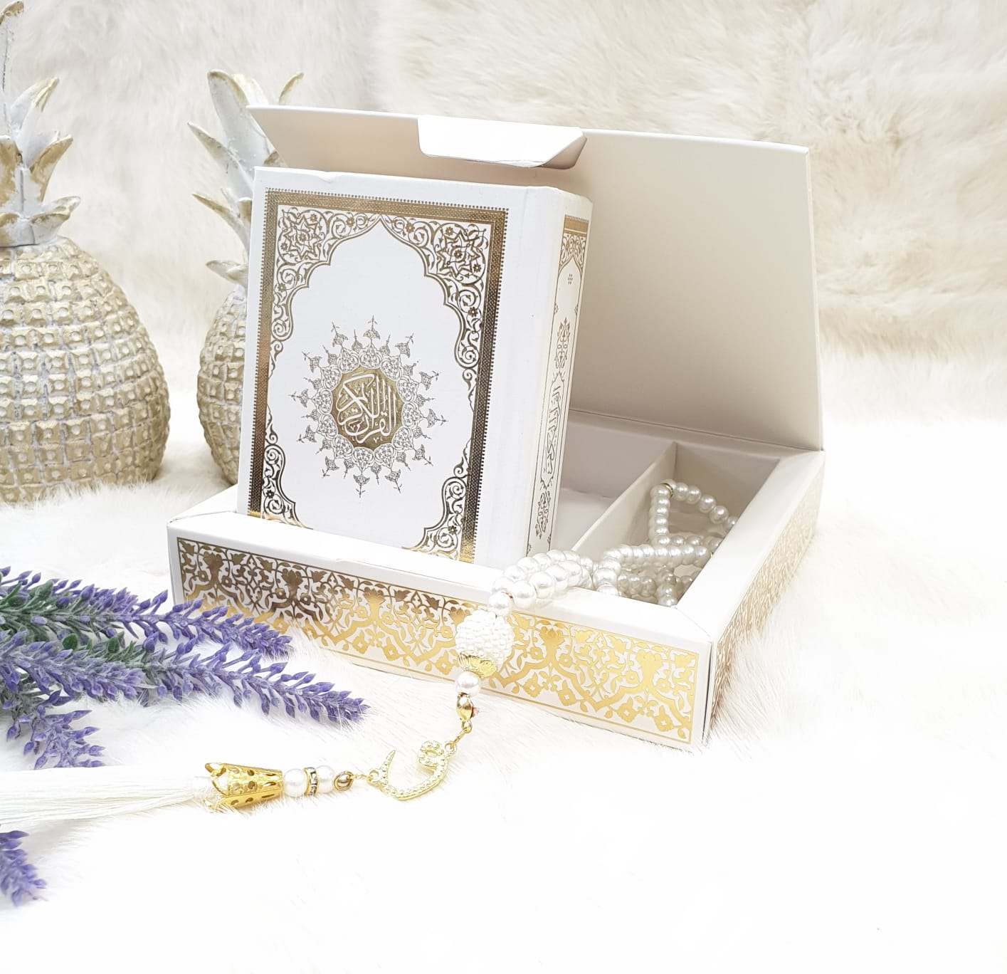 Quran And Rosary Set With Gift Box the First Class High Quality Prayer, Quran Tasbeeh Seven Color
