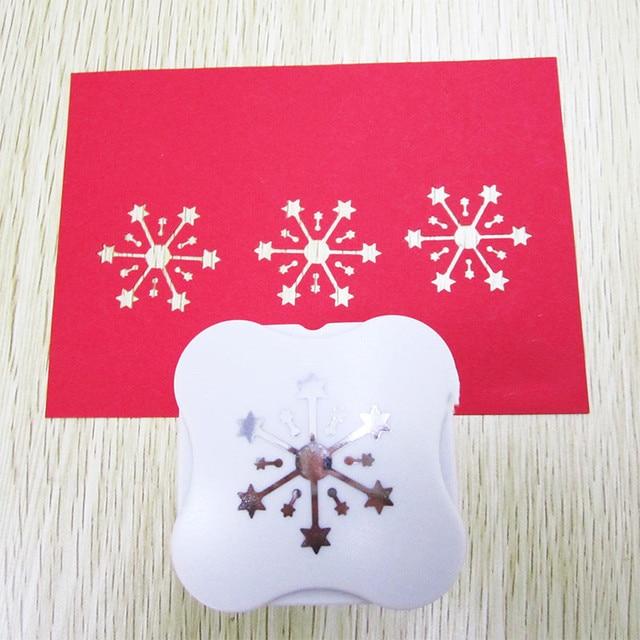 "1.5 ""(3.5 cm) nieuwe sneeuwvlok vormige papier perforator overal cut DIY scrapbooking ster ontwerp craft punch machine"