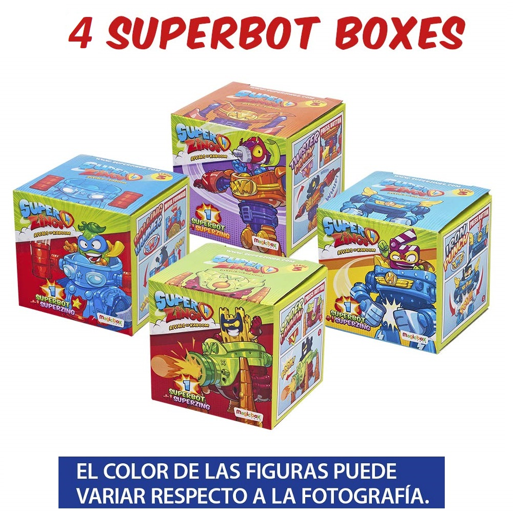 Superzings Series 3-Pack Collection Tracks From 4 Robots And 4 Figures