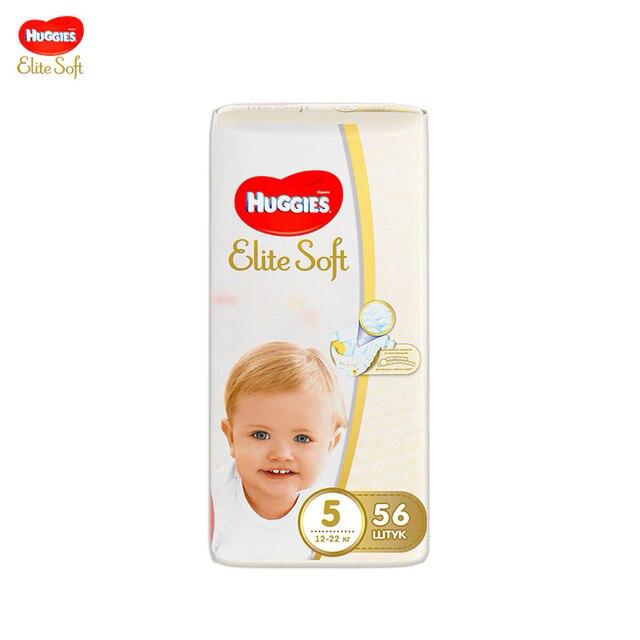 Подгузники Huggies Elite Soft 12-22 кг (размер 5) 56 шт