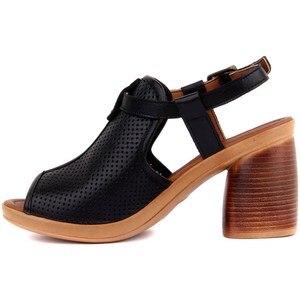 Image 4 - פייר קרדן אמיתי עור נשים סנדלי קיץ נוח סיבתי נעלי אישה בוהן ציוץ עקבים גבוהים תחתון אופנה אמא גבירותיי סנדלי Sandalias Mujer גודל 36 40 2019 חדש