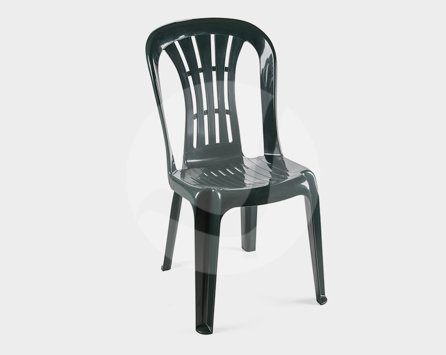 Chair CANARY, Monoblock, Stackable, Green