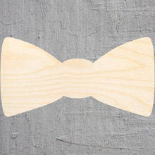 bow tie silhouette Laser Cut Out Wood Shape Craft Supply Unfinished Cut Art Projects Craft Decoration Gift Decoupage Ornamente()