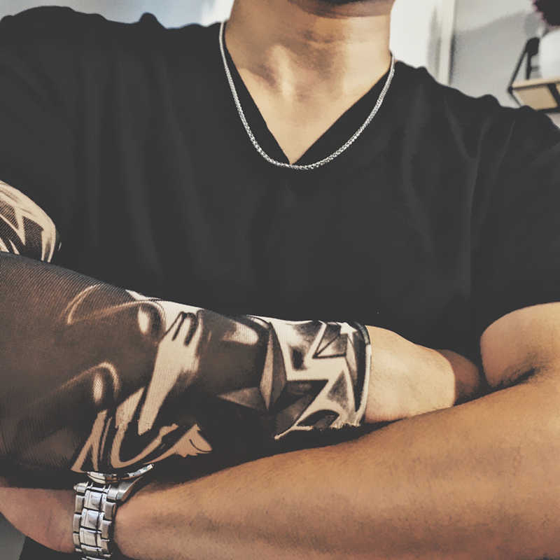 Mcllroy Hip Hop 50 cm-80 cm długie naszyjniki ze stali nierdzewnej mężczyzn naszyjnik Curb kubański Link Chain naszyjnik Punk Rock Man biżuteria 2019