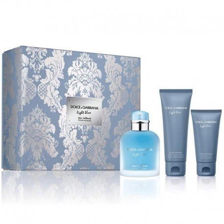 DOLCE & GABBANA LIGHT BLUE HOMME INTENSE EDP 100ML + AFTER SHAVE 75ML + SHOWER GEL 50ML
