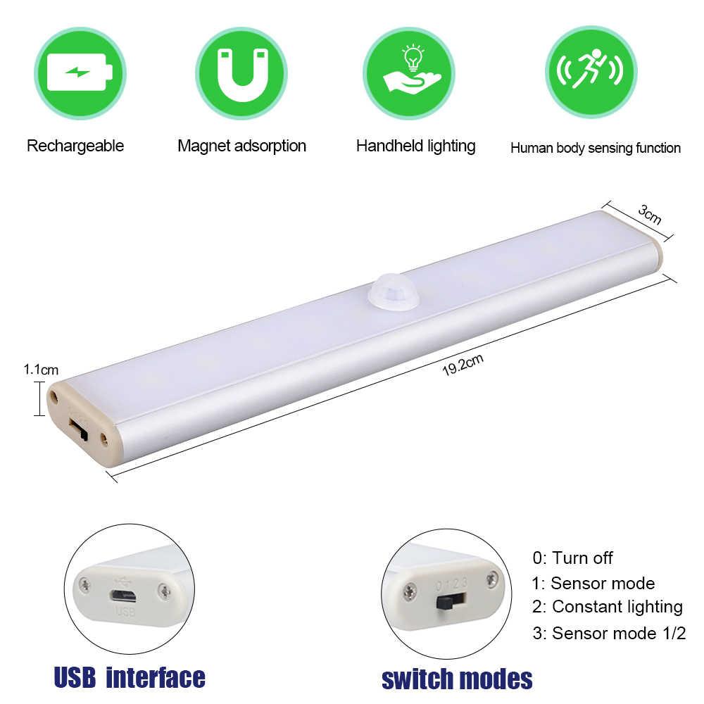 אלחוטי LED תחת קבינט אור PIR חיישן תנועת מנורת 24 נוריות תאורה עבור מלתחת ארון ארון מטבח לילה אור