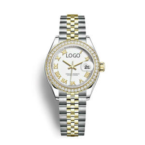 Woman Watch Movement Rolexable Swiss Automatic Brand Luxury Calendar Stainless-Steel